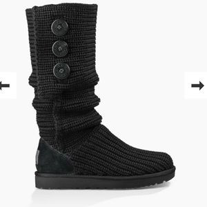 UGG Classic Cardy Boot - Black - Size 7